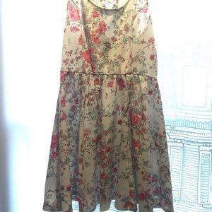 Floral lace back sun dress